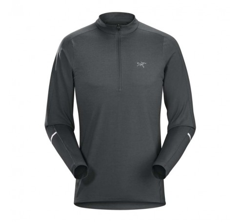 Arc'teryx Cormac Zip Neck LS M Heren Shirts & Tops Grijs