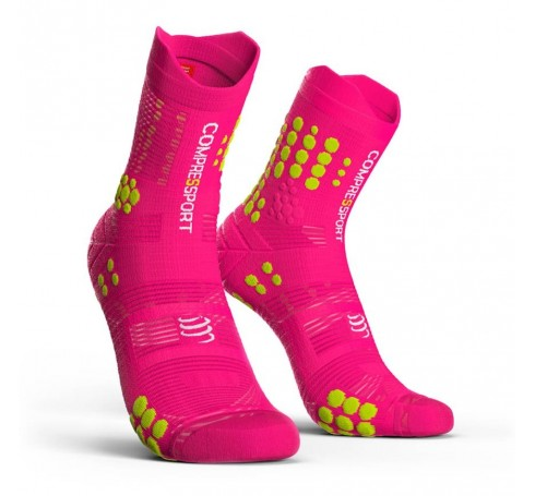 Compressport Racing Socks V3.0 Trail Uni Sokken Roze