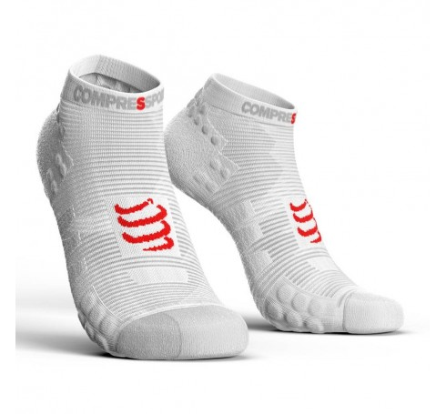 Compressport Racing Socks V3.0 Run Lo Uni Sokken Wit