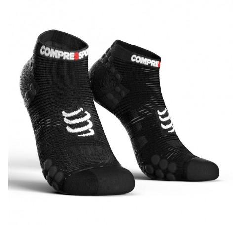 Compressport Racing Socks V3.0 Run Low Uni Sokken Zwart