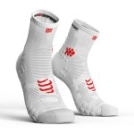 Compressport Racing Socks V3.0 Run Hi Uni Sokken Wit