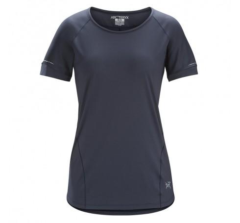 Arc'teryx Motus Crew SS W Dames Shirts & Tops Zwart