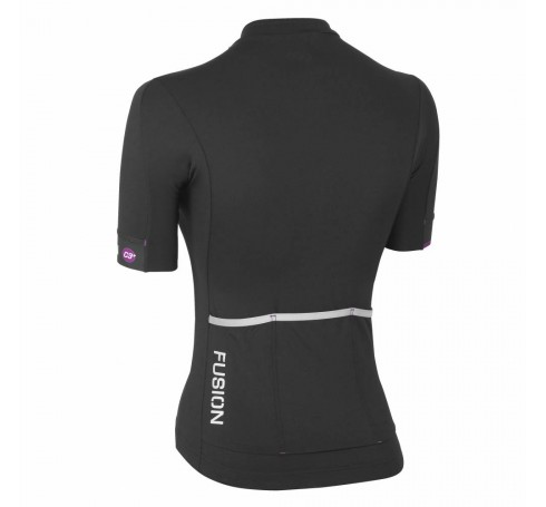 Fusion C3+ Cycling Jersey W Dames Shirts & Tops Zwart