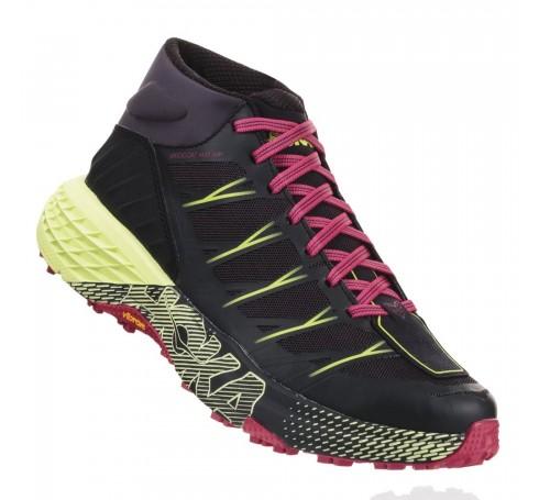 Hoka W Speedgoat Mid WP Dames Schoenen Zwart