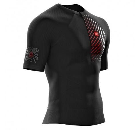 Compressport Trail Run SS Top V3 M Heren Shirts & Tops Zwart