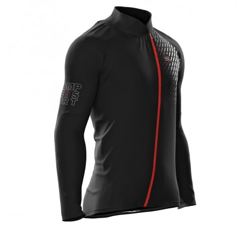 Compressport Hurricane Jacket V2 M Heren Jassen Zwart