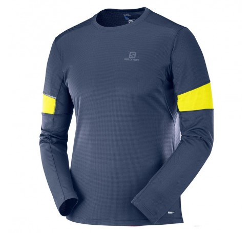 Agile LS Tee M Heren Shirts & Tops Blauw