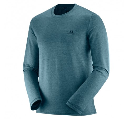 Pulse LS Tee M Heren Shirts & Tops Grijs