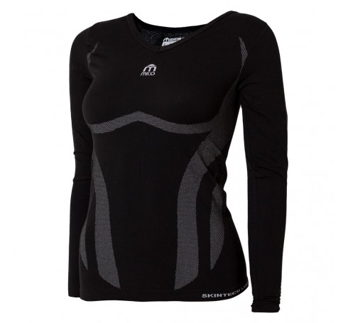 Mico Lightskin Long Sleeve W  Shirts & Tops Zwart