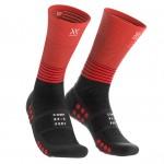 Compressport MID Compression Socks Uni Compressie Zwart-rood