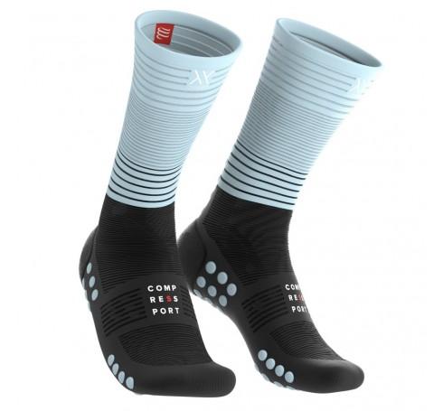 Compressport MID Compression Socks Uni Compressie Zwart-blauw