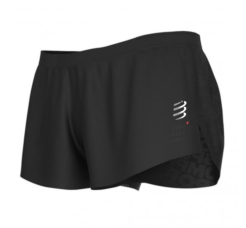 Compressport Racing Split Short M Heren Broeken Zwart