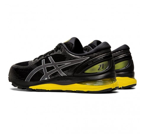 Asics Gel-Nimbus 21 Heren Schoenen Zwart-geel
