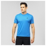 Agile SS Tee M Heren Shirts & Tops Licht blauw