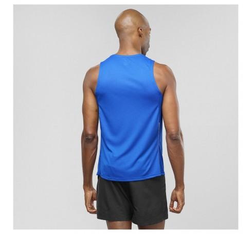 Agile Tank M Heren Shirts & Tops Blauw