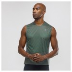 Sense Tank M Heren Shirts & Tops Groen