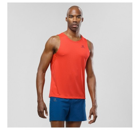 Agile Tank M Heren Shirts & Tops Rood