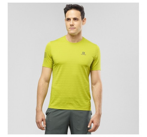 XA Tee M Heren Shirts & Tops Geel