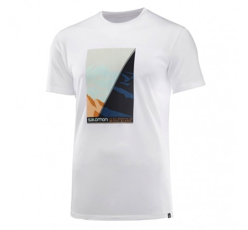 Agile Graphic Tee Mont Blanc Heren Shirts & Tops Wit