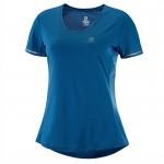 Agile SS Tee W Dames Shirts & Tops Blauw