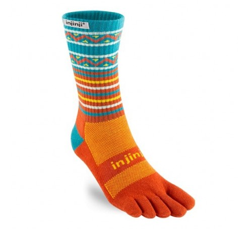 Injinji Trail Midweight Crew  Sokken Oranje-blauw