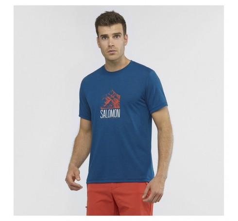 Explore Graphics SS Tee M Heren Shirts & Tops Blauw