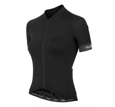 Fusion WMS C3+ Cycling Jersey Dames Shirts & Tops Zwart