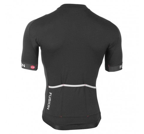 Fusion M C3+ Cycling Jersey Heren Shirts & Tops Zwart