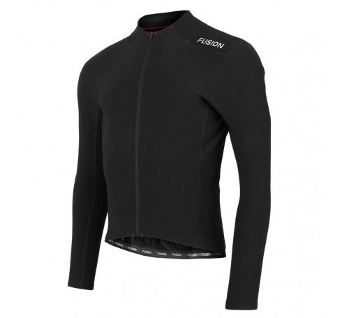Fusion C3 Hot LS Cycling Jersey Uni Jassen Zwart