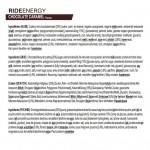 Powerbar Ride Energy Bar Choc Caramel  Trailrunning