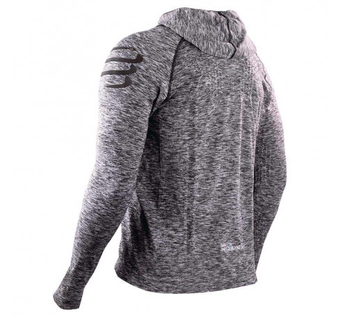 Compressport 3D Thermo Seamless Hoodie Heren Shirts & Tops Grijs
